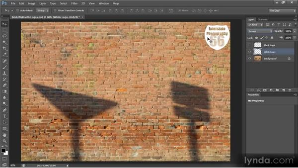 Blending a logo with blend modes: Creating Composites in Photoshop