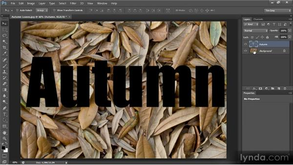 Blending a photo into text: Creating Composites in Photoshop
