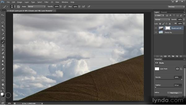 Blending with a soft brush: Creating Composites in Photoshop
