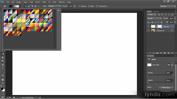 Blending along a gradient: Creating Composites in Photoshop