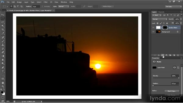 Creating a filtered edge: Creating Composites in Photoshop