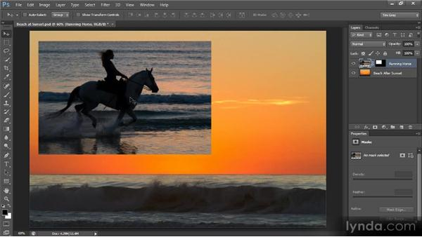 Using a mask as a frame: Creating Composites in Photoshop