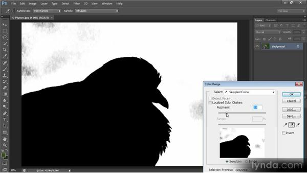 Creating a mask for a range of colors: Creating Composites in Photoshop
