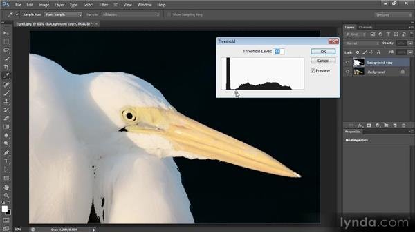 Creating a mask based on luminosity: Creating Composites in Photoshop