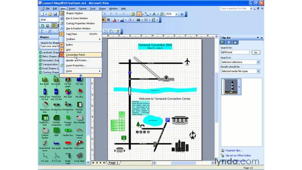 showing and hiding: Visio 2003 Essential Training