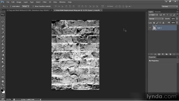 Blending an image into a texture: Creating Composites in Photoshop