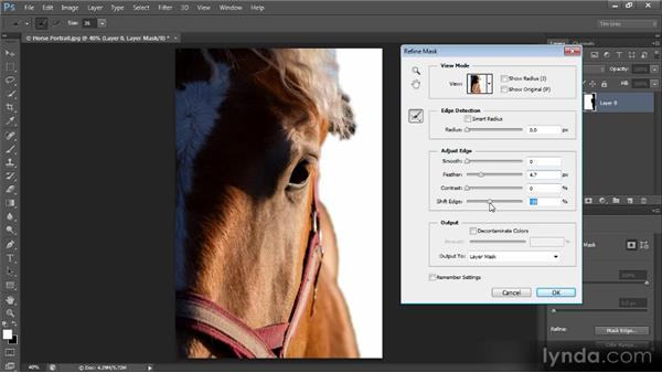 Using the Refine Mask command: Creating Composites in Photoshop