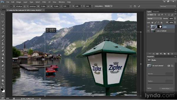 Resizing an image element: Creating Composites in Photoshop