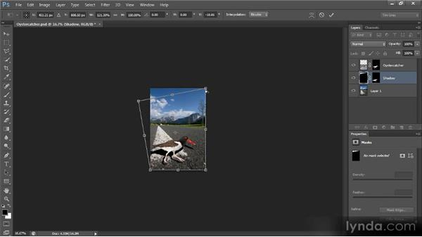 Adding a shadow: Creating Composites in Photoshop