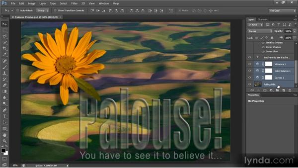Using layer groups for organization: Creating Composites in Photoshop