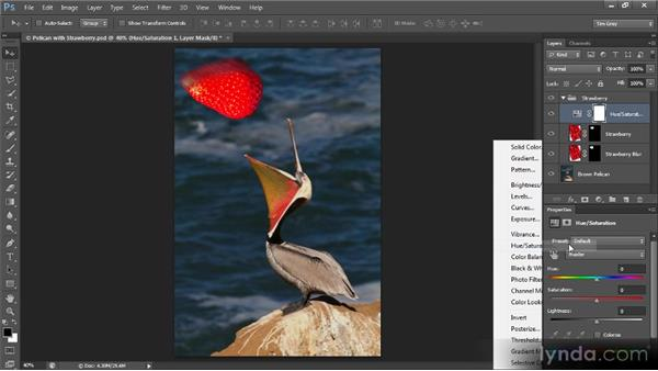 Focusing adjustments with layer groups: Creating Composites in Photoshop
