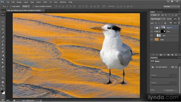 Adding multiple masks via layer groups: Creating Composites in Photoshop