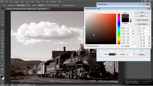 Creating a gradient map preset: Photoshop Creative Effects and Filters