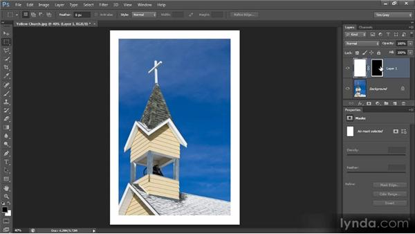 Creating a filtered edge effect: Photoshop Creative Effects and Filters