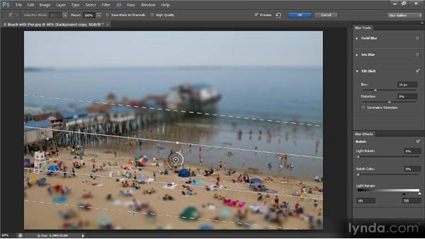 The Tilt-Shift blur effect: Photoshop Creative Effects and Filters