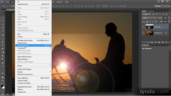 Adding lens flare: Photoshop Creative Effects and Filters