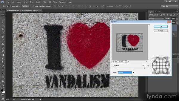 Using the Spherize and Pinch filters: Photoshop Creative Effects and Filters
