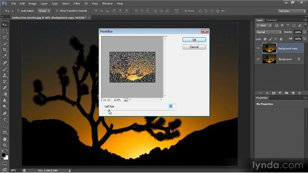 Creating huge pixels with Pointilize: Photoshop Creative Effects and Filters