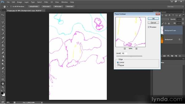 Mapping the image with Trace Contour: Photoshop Creative Effects and Filters
