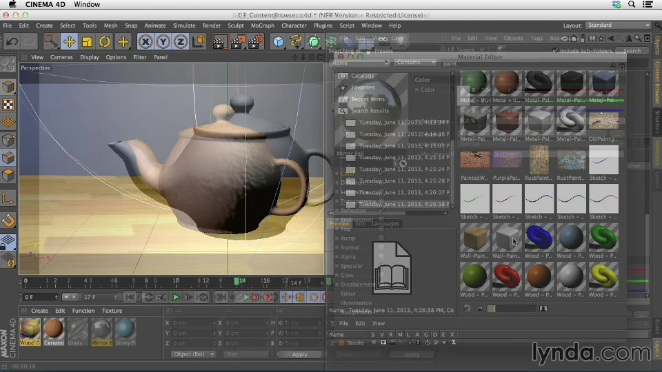 Cinema 4D: Creating Materials