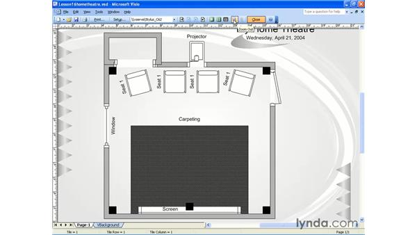 print preview: Visio 2003 Essential Training