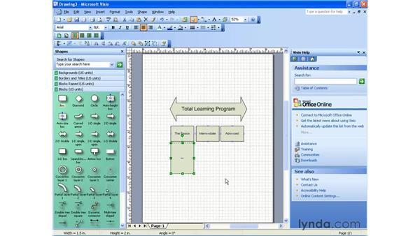 creating a block diagram: Visio 2003 Essential Training