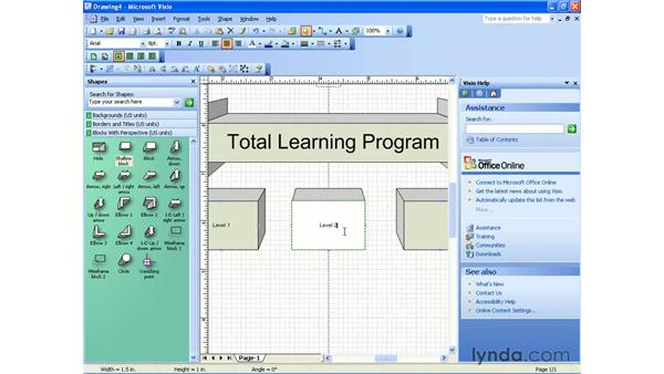 using perspective: Visio 2003 Essential Training