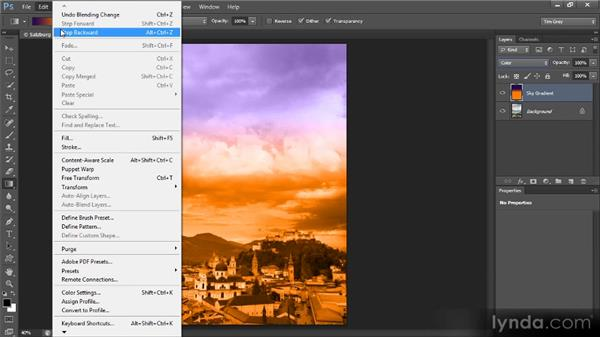 Adding a gradient of color: Mastering Color Correction in Photoshop