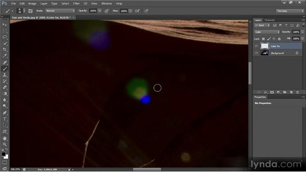 Removing color from lens flare: Mastering Color Correction in Photoshop
