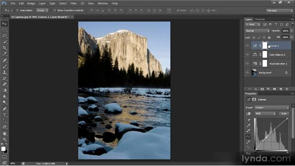 Using an adjustment layer to paint in a correction: Mastering Color Correction in Photoshop