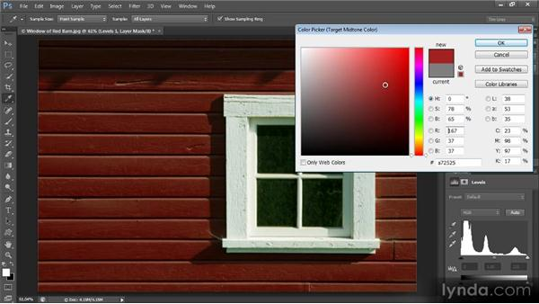 One-click color values: Mastering Color Correction in Photoshop