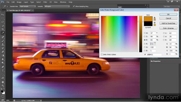 Sampling for a specific color: Mastering Color Correction in Photoshop