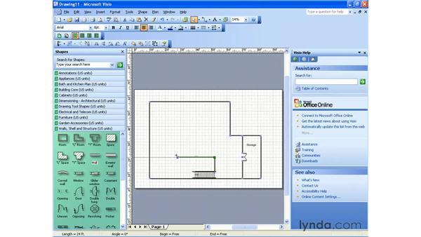 creating a home plan: Visio 2003 Essential Training
