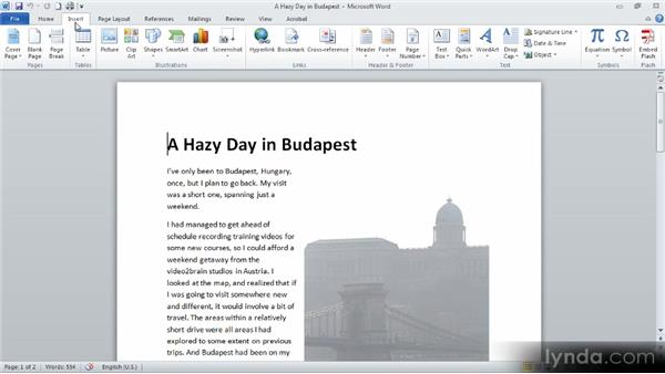 Getting familiar with Microsoft Word: Up and Running with Word 2010