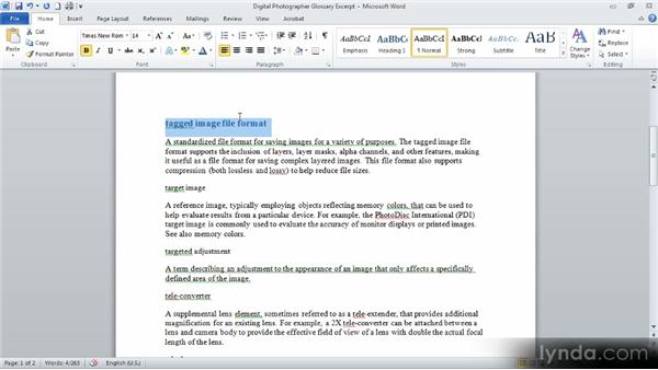 Using the Format Painter: Up and Running with Word 2010