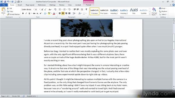Adding images to a document: Up and Running with Word 2010