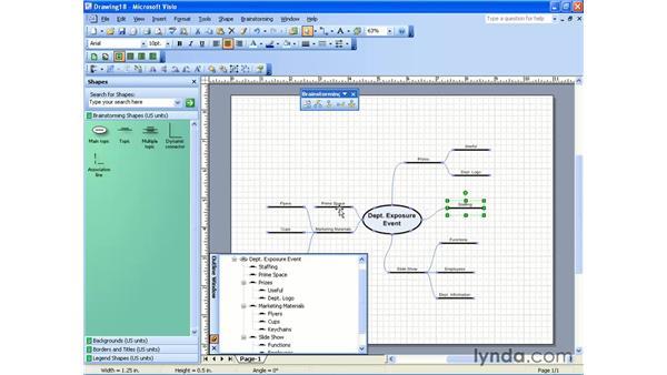 brainstorming diagram: Visio 2003 Essential Training