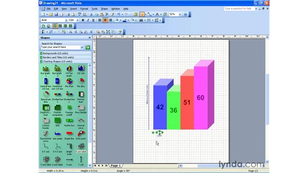 charts and graphs: Visio 2003 Essential Training