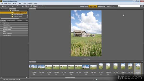 Reviewing the images: Photoshop Artist in Action: Tim Grey's Abandoned Farmhouse