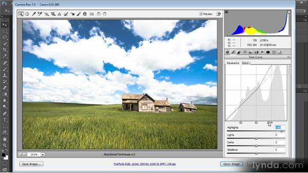 Using the Tone Curve panel: Photoshop Artist in Action: Tim Grey's Abandoned Farmhouse