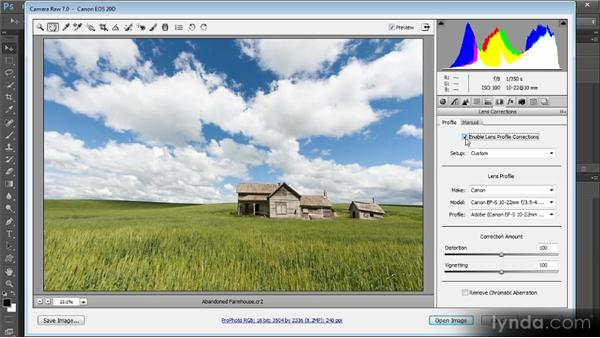 Lens corrections: Photoshop Artist in Action: Tim Grey's Abandoned Farmhouse