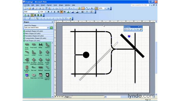 directional map: Visio 2003 Essential Training