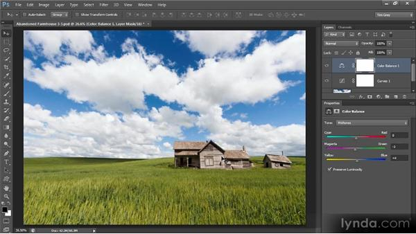 Evaluating and refining color: Photoshop Artist in Action: Tim Grey's Abandoned Farmhouse