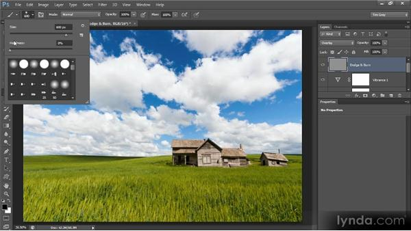 Dodging and burning: Photoshop Artist in Action: Tim Grey's Abandoned Farmhouse