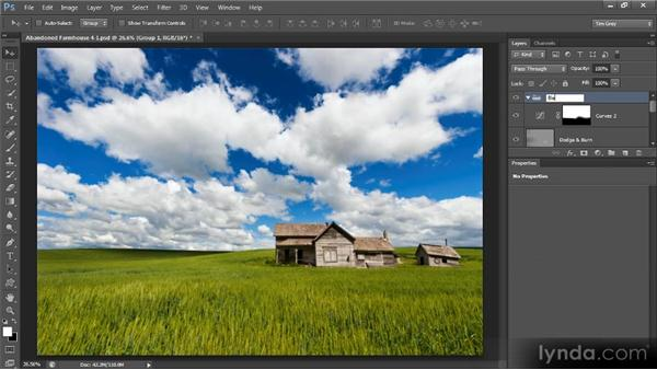 Converting to black and white: Photoshop Artist in Action: Tim Grey's Abandoned Farmhouse