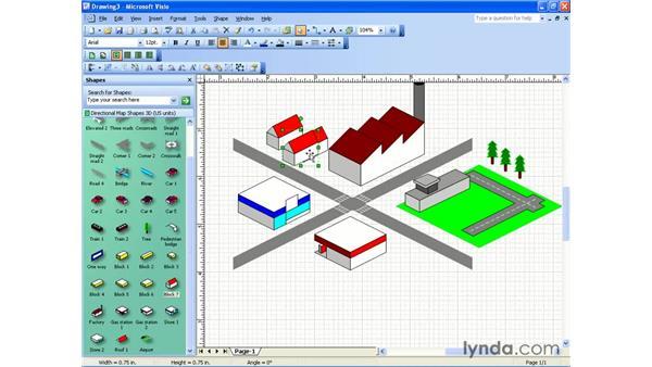 3D directional map: Visio 2003 Essential Training