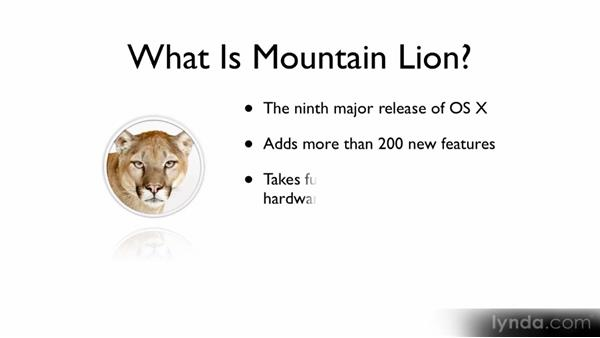 What is Mountain Lion?: Up and Running with Mac OS X Mountain Lion