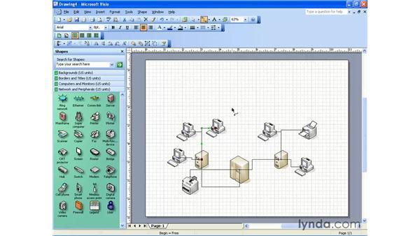 creating a basic network: Visio 2003 Essential Training