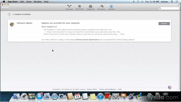 Keeping your Mac up to date: Up and Running with Mac OS X Mountain Lion
