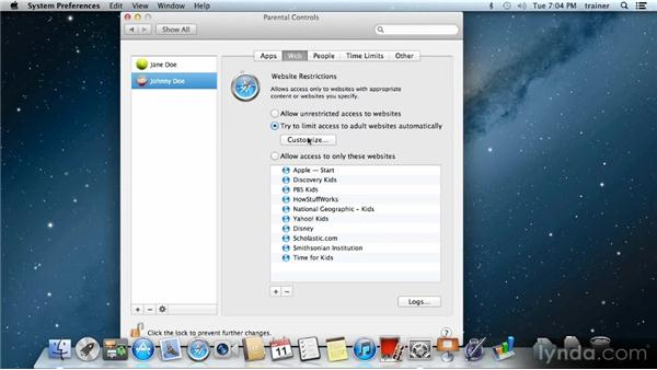 Setting parental controls: Up and Running with Mac OS X Mountain Lion